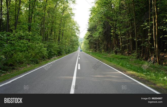 two lane road